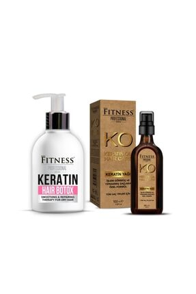 Fitness Professional Sam Onarıcı Yıpranmış Kuru Saç Botoksu Hair Botox 250 ml + Keratin Yağı 100 ml
