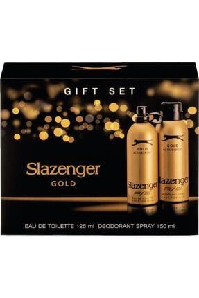 Slazenger Parfüm Gold Edt 125ml + 150ml Erkek Deodorant Kofre Set
