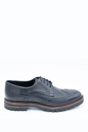 İgs Erkek Siyah Flot Deri Günlük Ayakkabı
