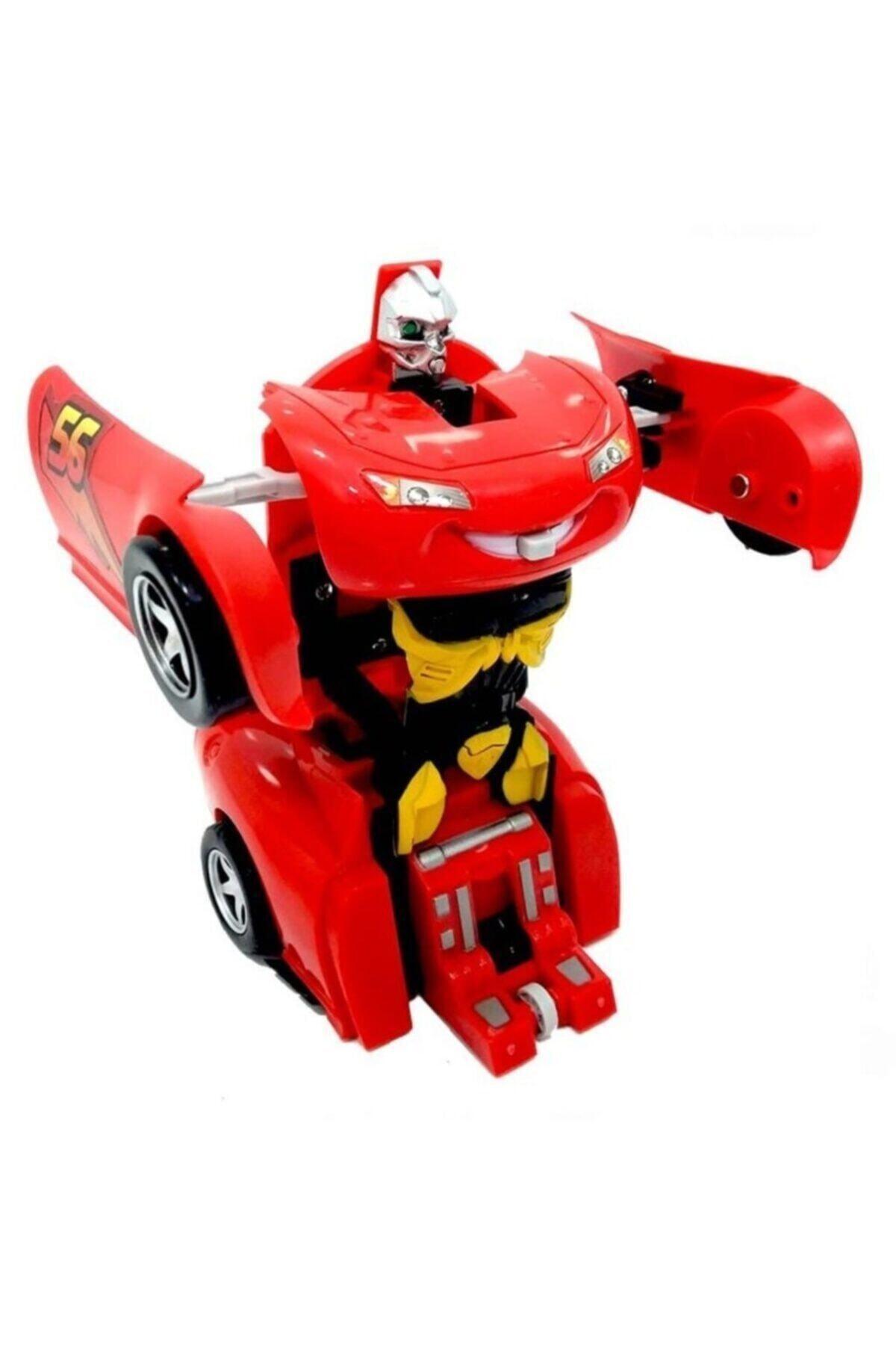 AKÇİÇEK OYUNCAK Şimşek Mcqueen Robota Dönüşebilen Araba 2