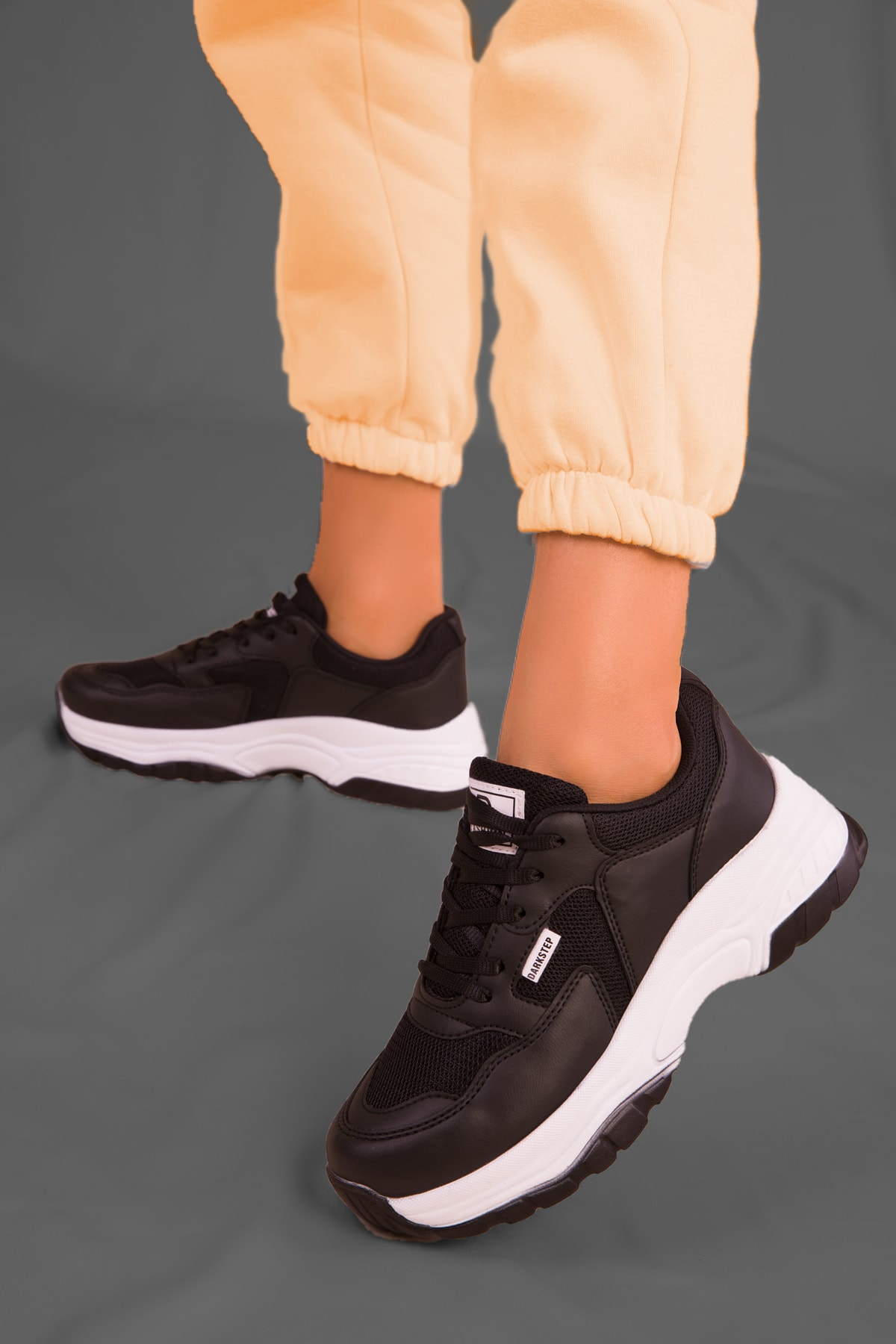 ICELAKE Unisex Siyah Sneaker Y01ls106 1