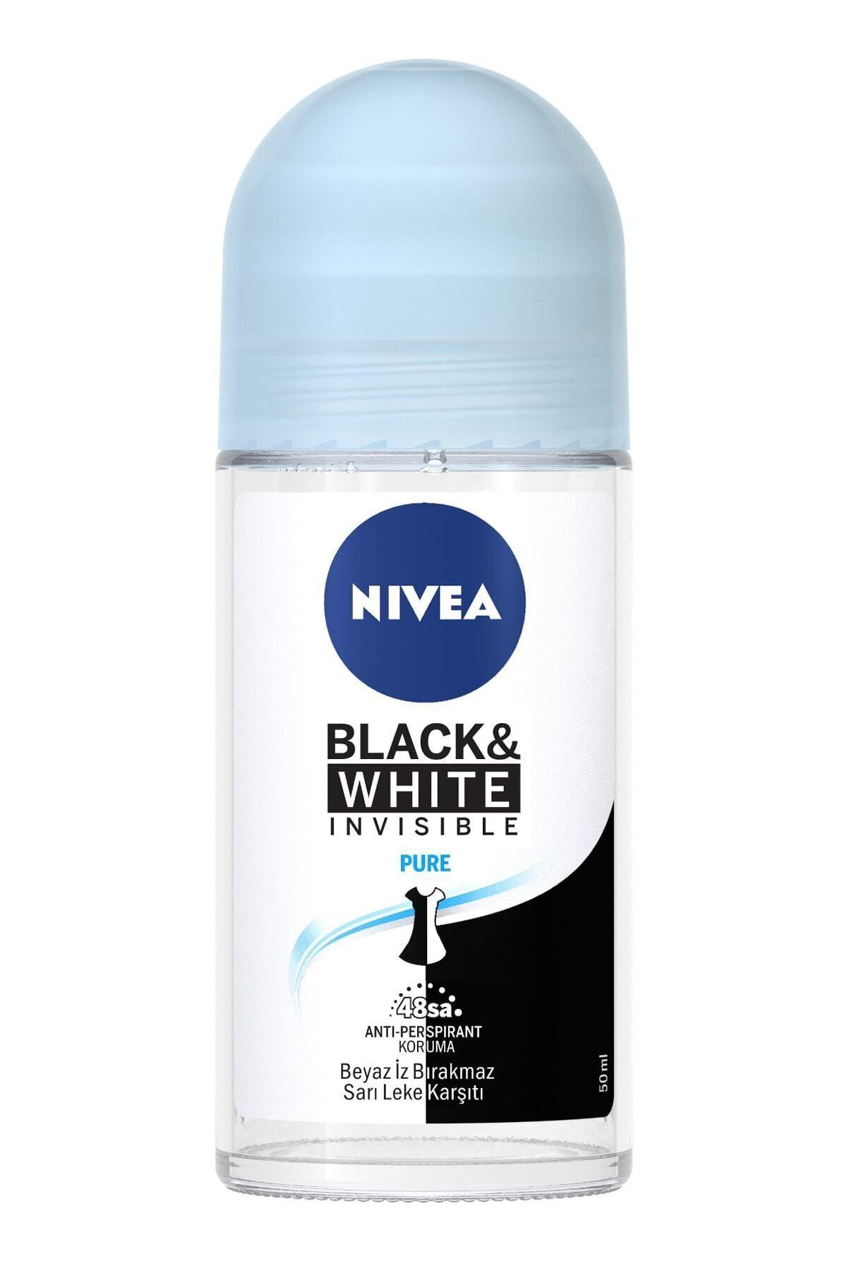 Nivea Nıvea Roll-on Invisible Black&white Pure 50 ml Kadın 1