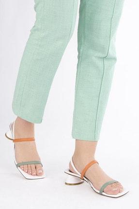 Marjin Kadın Beyaz Topuklu Sandalet