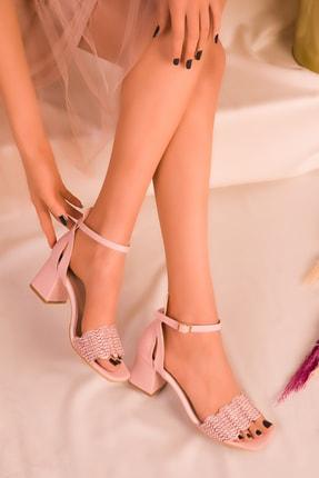 SOHO Pudra Kadın Klasik Topuklu Ayakkabı 16244