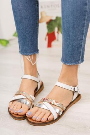 MUGGO Kadın Deri Sandalet