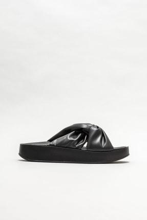 Elle Shoes Kadın Siyah Dolgu Topuklu Terlik