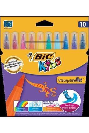 Bic Visa Fırça Uçlu Keçeli Boyama Kalemi 10'lu Paket