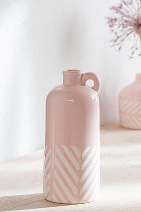 English Home Bottle Vazo 8.8x8.8x20.5 Cm Pembe