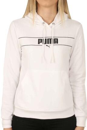 Puma Kadın Beyaz Blank Base Kapüşonlu Sweatshirt 586400 02