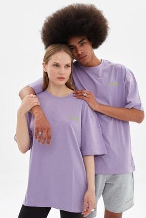 TRENDYOL MAN Lila Unisex Oversize T-Shirt TMNSS21TS3374