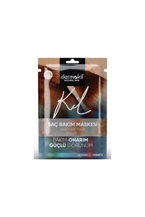 Dermokil Natural Hair Saç Bakım Maskesi-kil Argan Yağı Ve Bitkisel Keratin Bakım 3'lüsü 35 Ml