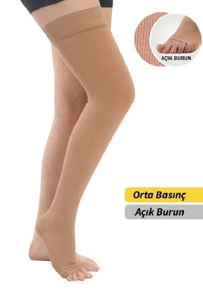 MORSA CYBERG ® Diz Üstü Açık Burun Orta Basınç Varis Çorabı Ccl 2