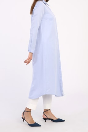 ALLDAY Mavi Pamuklu Uzun Gömlek