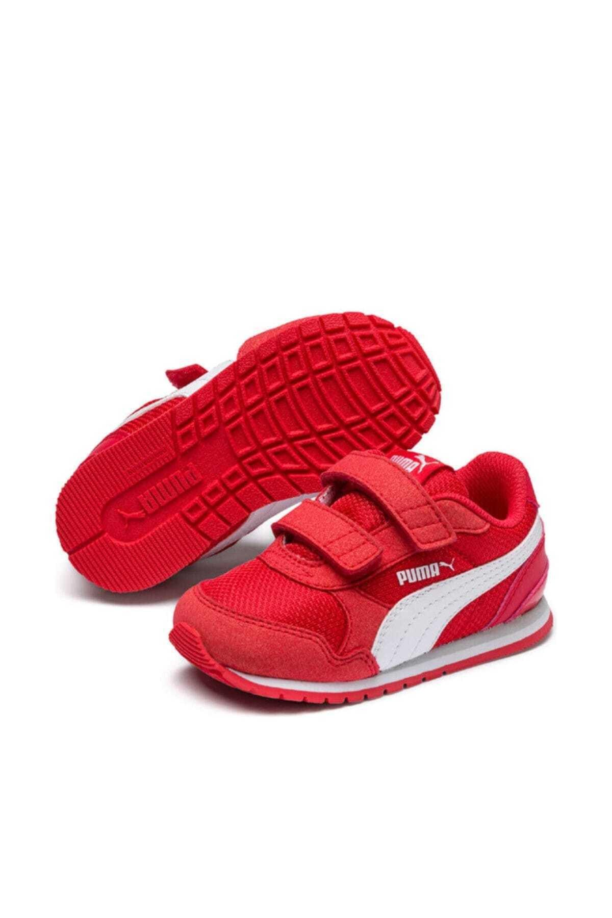 Puma Kids Puma St Runner V2 Mesh V Ps Kırmızı Beyaz Unisex Çocuk Sneaker Ayakkabı 100415121 1