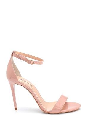 Derimod Kadın Pembe Rugan Yüksek Topuklu Ayakkabı