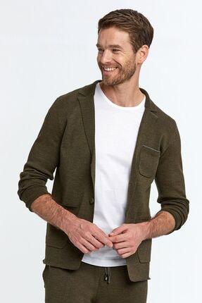 Hemington Erkek Koyu Yeşil Extrafine Merino Loungewear Triko Hırka