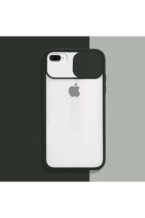 Go Aksesuar Iphone 7/8 Plus Kılıf Slayt Sürgülü Kamera Korumalı Renkli Silikon + Ekran Koruyucu