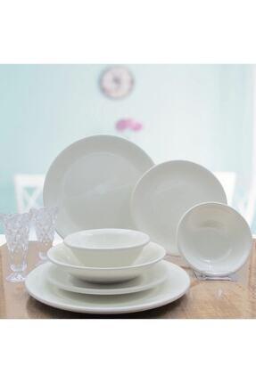 Arna Porselen 24 Parça 6 Kişilik Seramik Taş Yemek Takımı