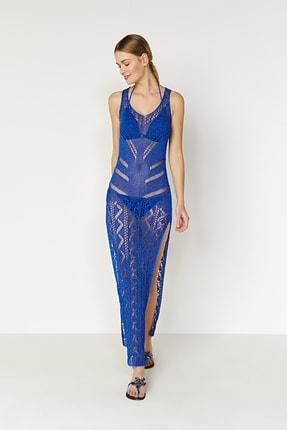 JOIN US Ajurlu Yanları Yırtmaçlı Triko Elbise