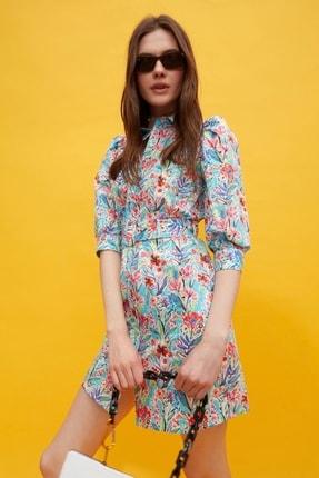 AYHAN Çiçek Desenli Gömlek Elbise