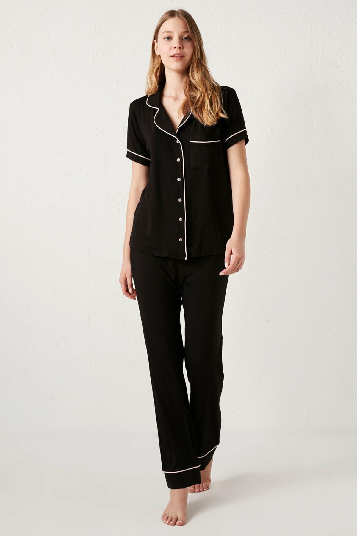 LC Waikiki Kadın Siyah  Pijama Takımı 1