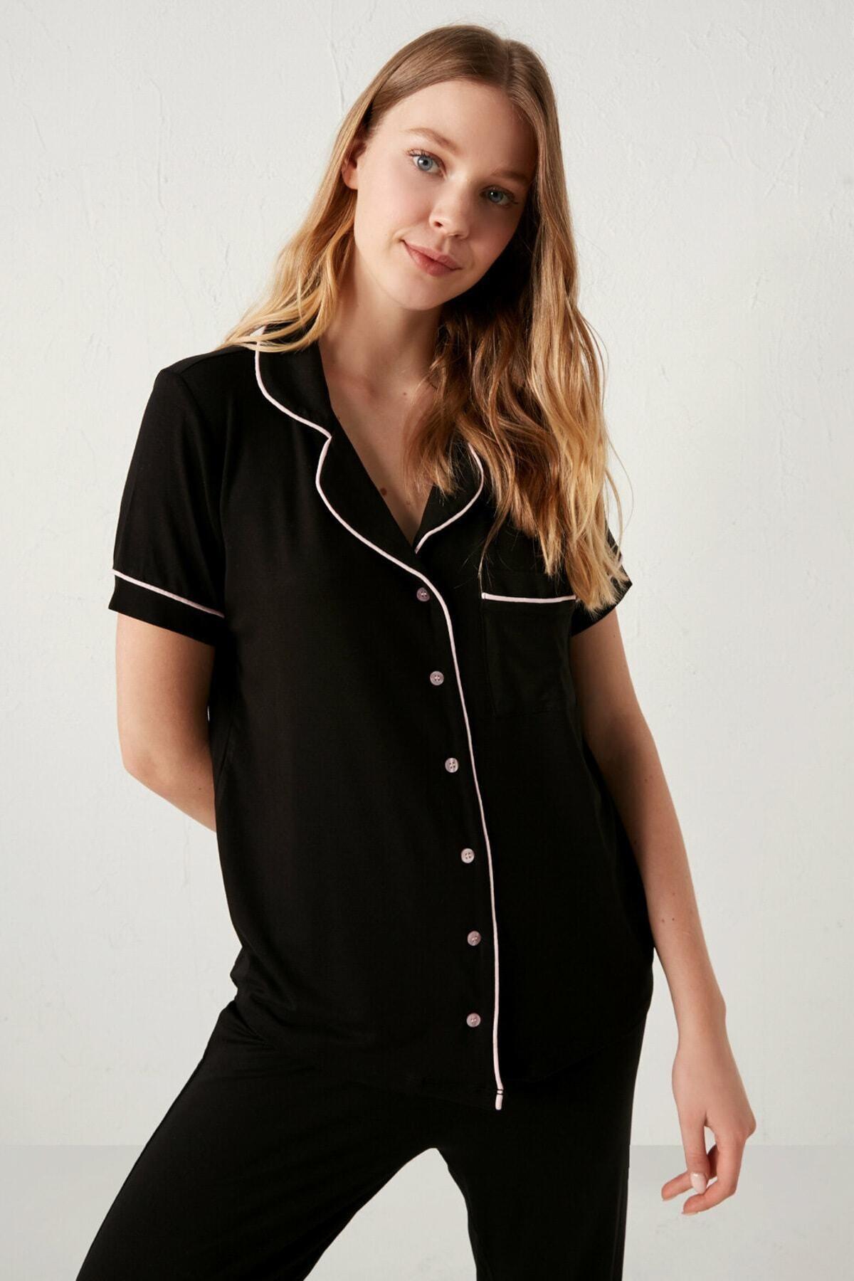 LC Waikiki Kadın Siyah  Pijama Takımı 2