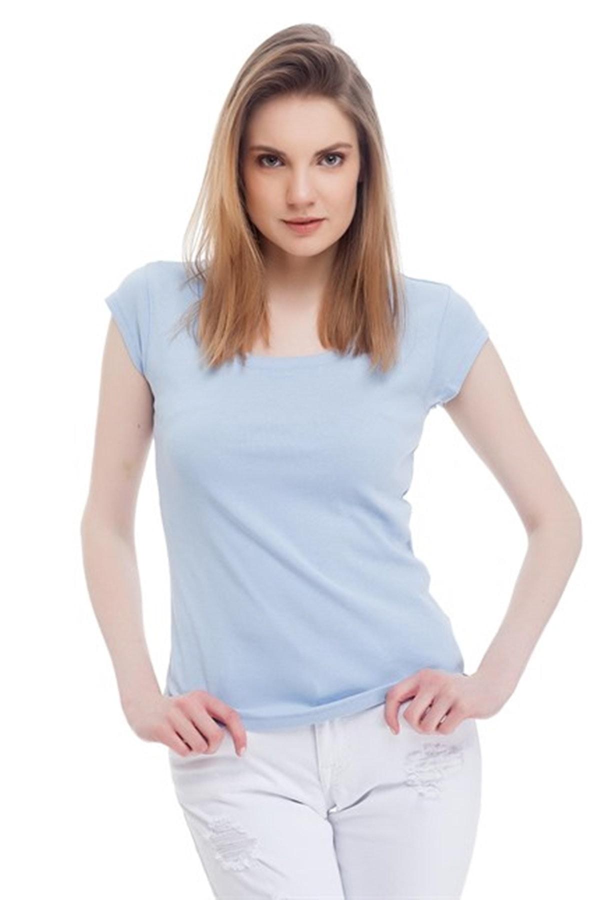 Mustang Kadın T-shirt Açık Mavi 1
