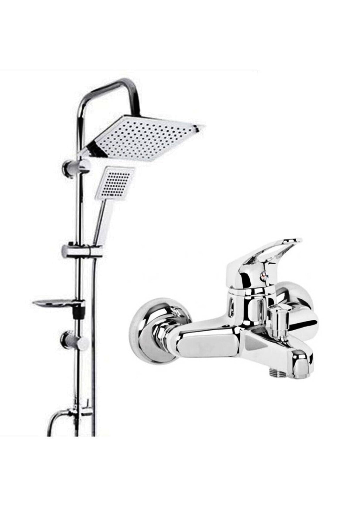 Beyazsu Dubai Duş Seti, Krom Batarya Tepe Yağmurlama Duş Seti Robot 1