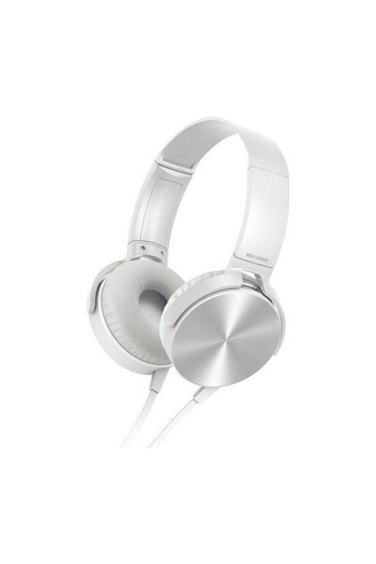 OKMORE Kafa Üstü Telefon Oyun Kulaklığı Extra Bass Stereo Beyaz 1