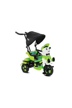 BabyHope Ümit 125 Panda Itmeli Ebeveyn Kontrollü Bebek Bisikleti Yeşil