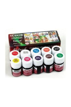 Südor Vitrail Cam Vitray Boyası 10 Renk x 25 ml.