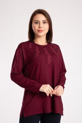 Nacar Anne Penye Bluz( Yaka Deseni Farklılık Gösterebilir )