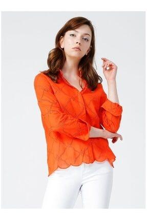 U.S. Polo Assn. Kadın Kırmızı Desenli Gömlek