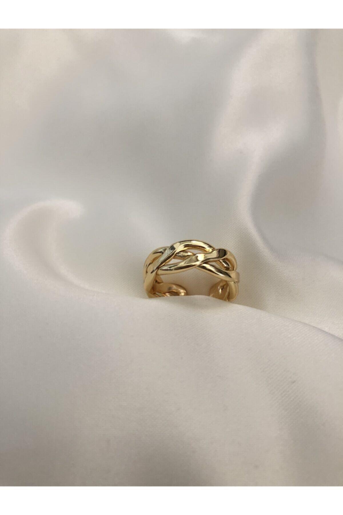 The Y Jewelry Örgü Yüzük-ayarlanabilir 2
