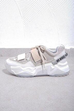 Tinka Bell Shoes Kadın Beyaz Rugan Spor Ayakkabı 65140