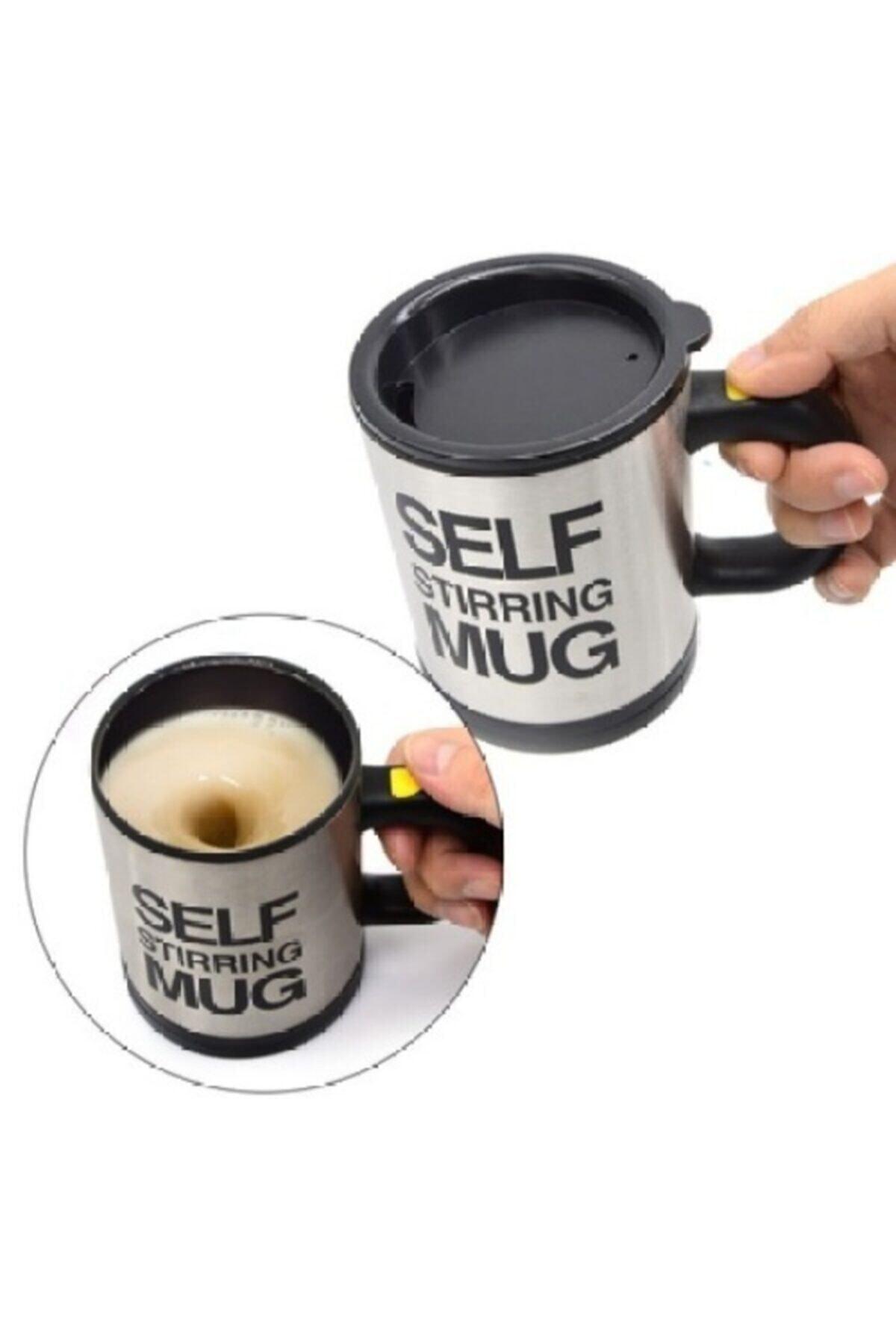 MyBlack Kendi Kendini Karıştıran Bardak Self Stirring Mug Termos Kupa 1