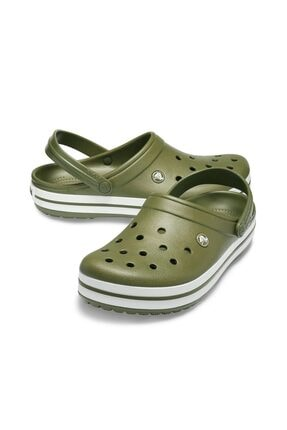 Crocs Crocband Army Green & White