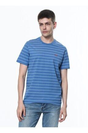 Levi's Erkek Mavi Çizgili T-shirt