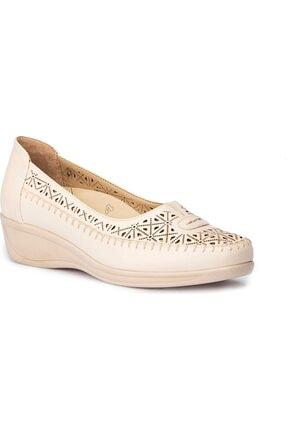 Polaris 5 Nokta 71.109603 Bej Kadın Dolgu Topuk Ayakkabı