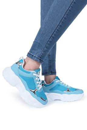 DİESİS Kadın Turkuaz Bağcıklı Sneaker