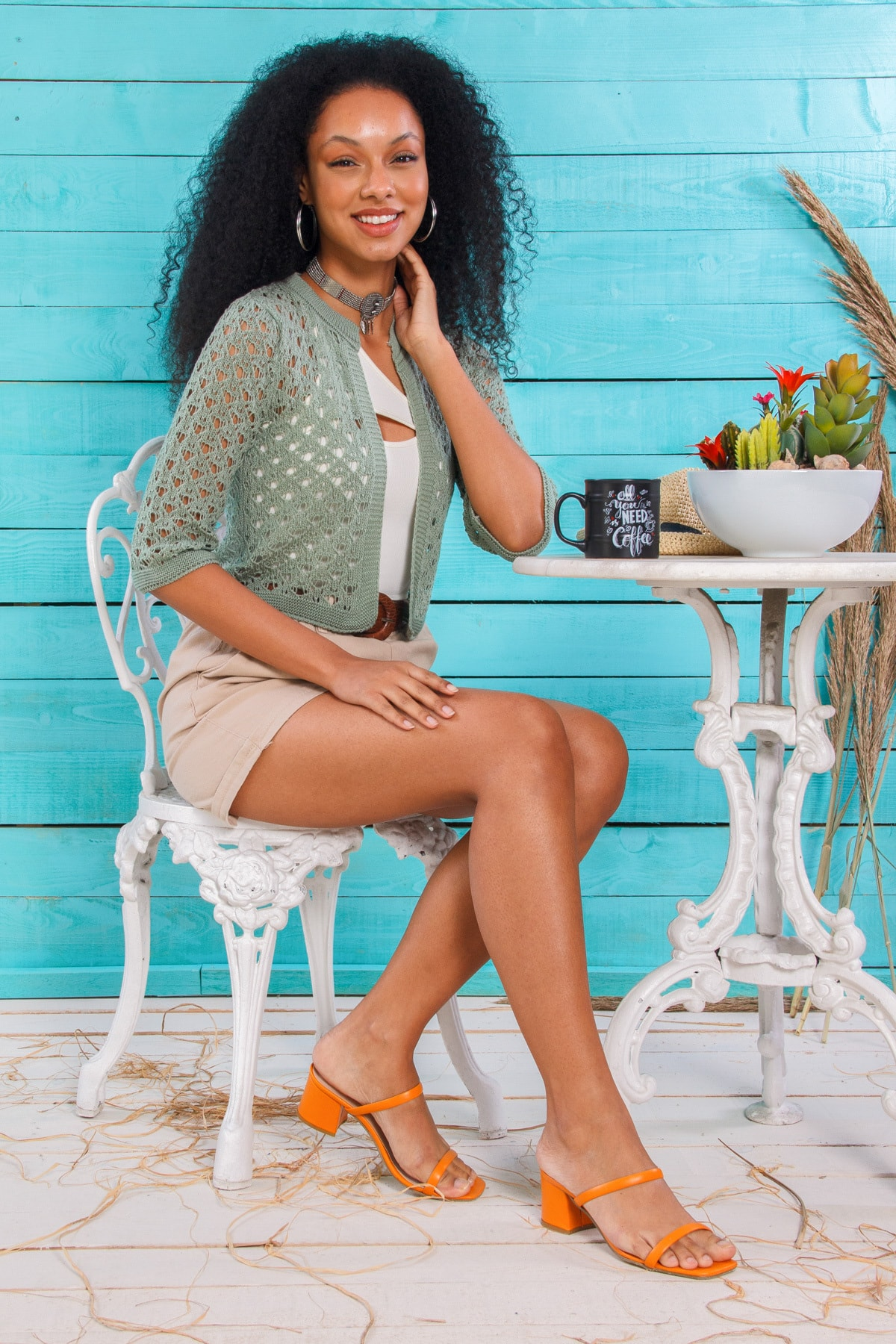 Hyde Park Kadın  Mint Yeşili Ajurlu Bolero Hırka HP-240321000001