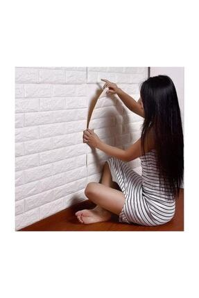 Renkli Duvarlar Kendinden Yapışkanlı Sünger Beyaz Tuğla Duvar Paneli Nw01 70x77 cm 8,5mm 1 Adet