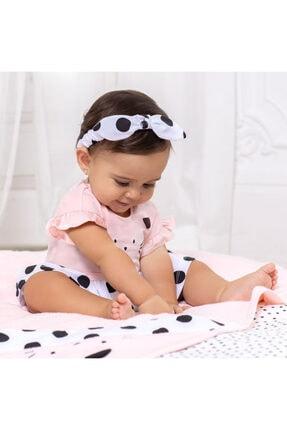 MAYORAL Yazlık Kız Bebek Kısa Tulum Bandana Set Siyah