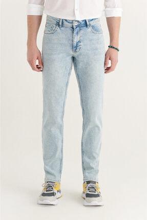 Avva Erkek Açık Mavi Slim Fit Jean Pantolon A11y3523