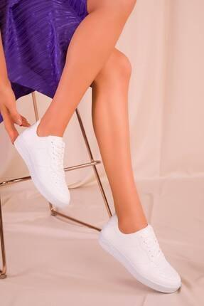 Eformoda Kadın Beyaz Sneaker Ayakkabı