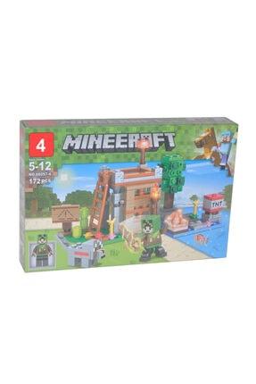 e-life Es66057-4 Lego Yapı Oyuncak Seti Minecraft My World Serisi 172 Parça