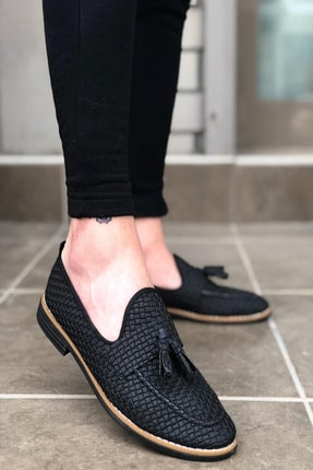 Mida Shoes Erkek Siyah Deri Klasik Ayakkabı