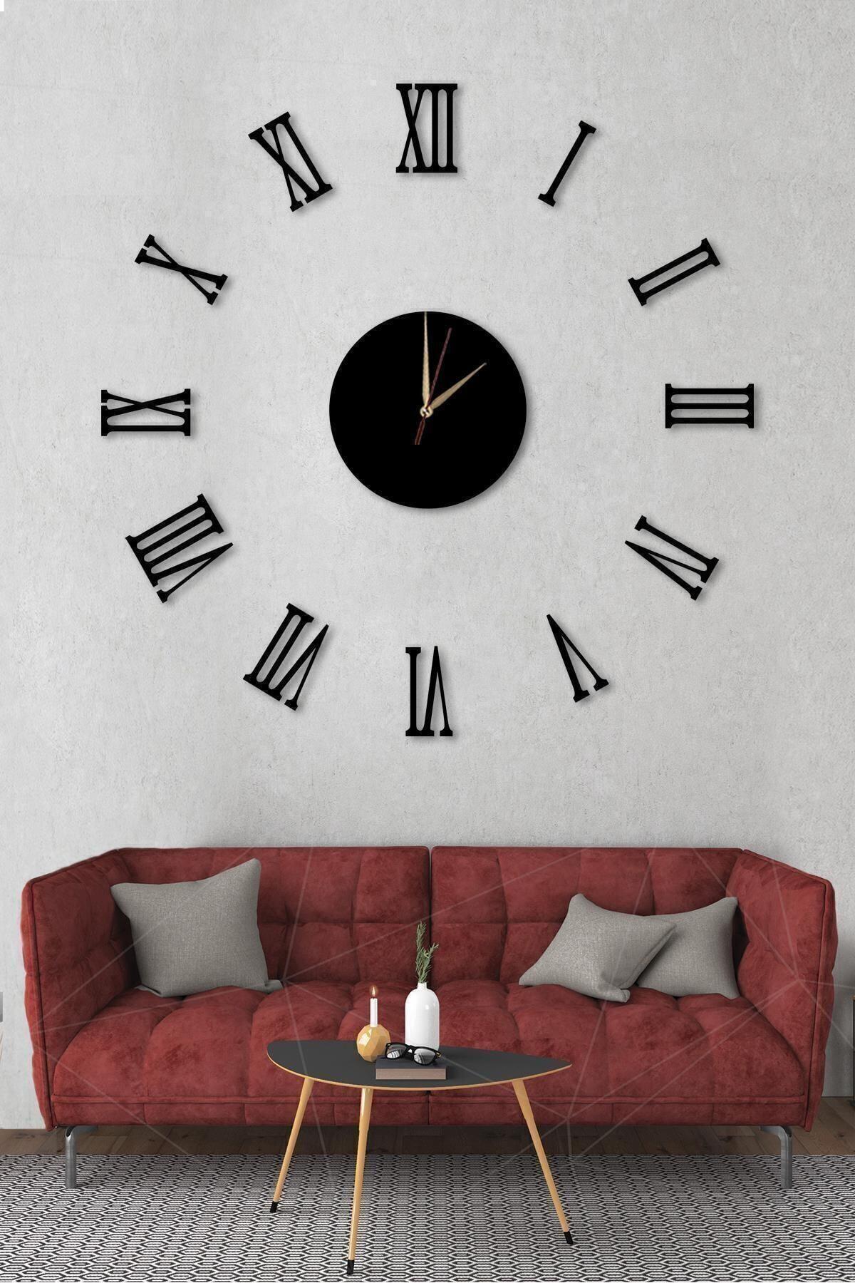NT Handmade Göbek Duvar Saati Büyük Ahşap Romen Rakamlı 1