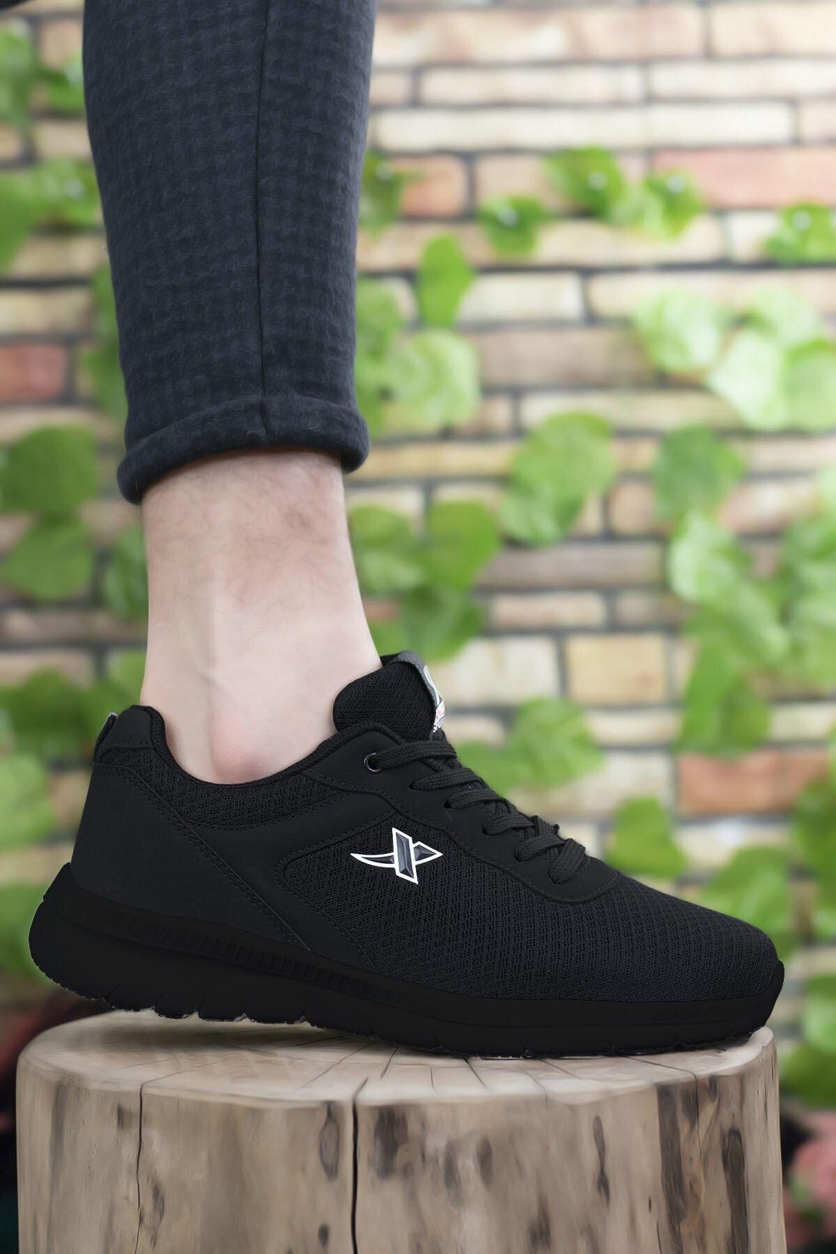 Riccon Siyah Siyah Unisex Sneaker 0012065 1