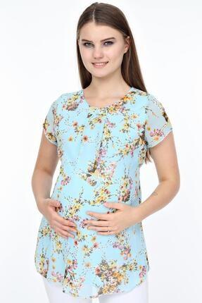 Işşıl 4431-buket Çiçek Hamile Şifon Bluz